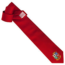 Buy Thomas Pink The Lions Shield Tie, Red Online at johnlewis.com