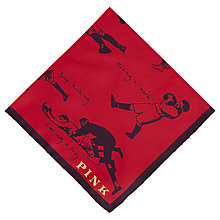Buy Thomas Pink The Lions Pocket Square, Red/Navy Online at johnlewis.com