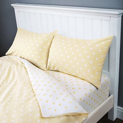 Buy John Lewis Polka Dot Duvet Cover, Fitted Sheet and Pillowcase Set Online at johnlewis.com