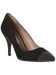 Pied A Terre Alford Suede Studded Toecap Court Shoes