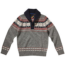 Buy Tommy Hilfiger Anthony Shawl Jumper, Silver Fog Heather Online at johnlewis.com