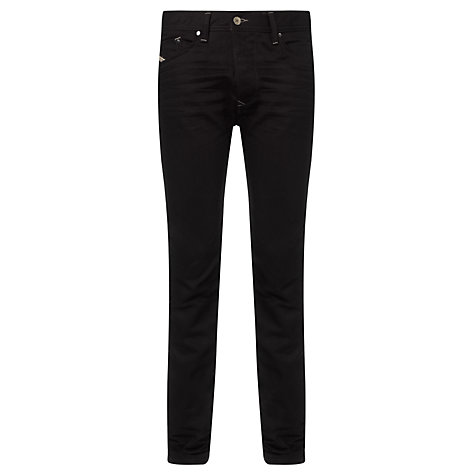Buy Diesel Darron 00C1X Tapered Jeans, Black Online at johnlewis.com