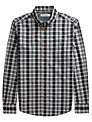Ben Sherman Mixed Check Shirt, Smoked Pearl