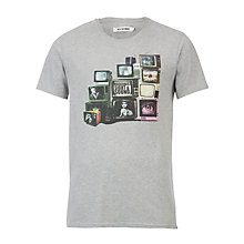 Buy Ben Sherman TV Print T-Shirt, Grey Online at johnlewis.com