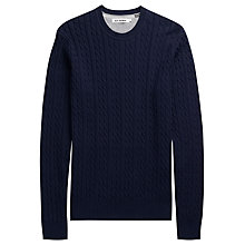 Buy Ben Sherman Cable Crew Neck Jumper, Navy Online at johnlewis.com