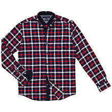 Buy Tommy Hilfiger Pine Check Shirt, Snow White/Scarlet Sage Online at johnlewis.com