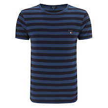 Buy Gant Bar Stripe Crew Neck T-Shirt Online at johnlewis.com