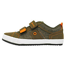 Buy Geox Pit Trainers, Brown/Orange Online at johnlewis.com