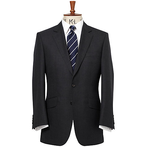 Buy Chester Barrie Hopsack Suit Jacket, Grey Online at johnlewis.com