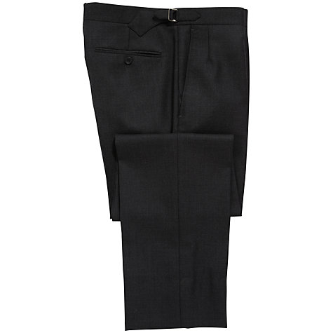 Buy Chester Barrie Savile Row Hopsack Suit Trousers, Grey Online at johnlewis.com