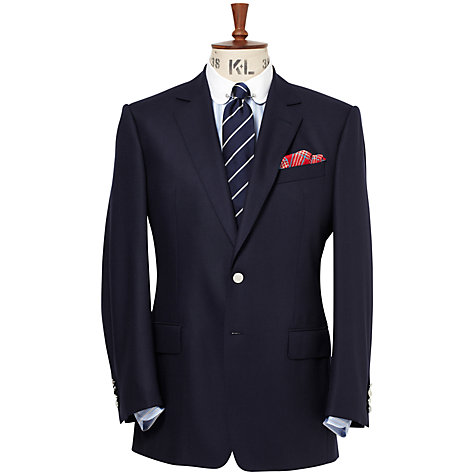 Buy Chester Barrie Single-Breasted Blazer, Navy Online at johnlewis.com