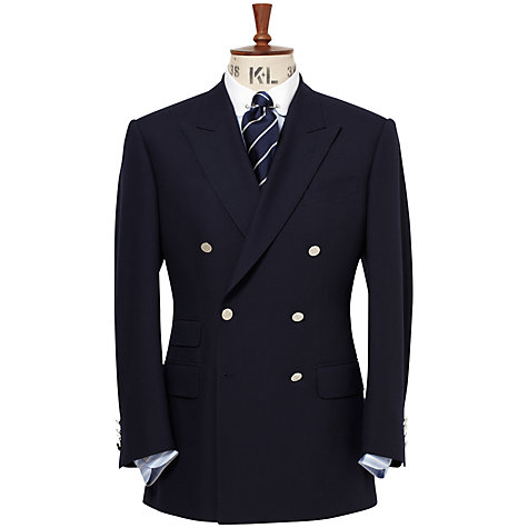 Buy Chester Barrie Double-Breasted Blazer, Navy Online at johnlewis.com