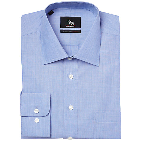Buy Chester by Chester Barrie Plain Smart Shirt, Blue Online at johnlewis.com