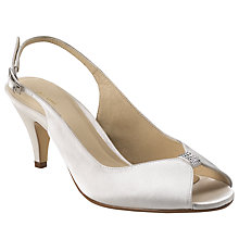 Buy John Lewis Occasion Berkeley Satin Slingback Court Shoes, Ivory Online at johnlewis.com