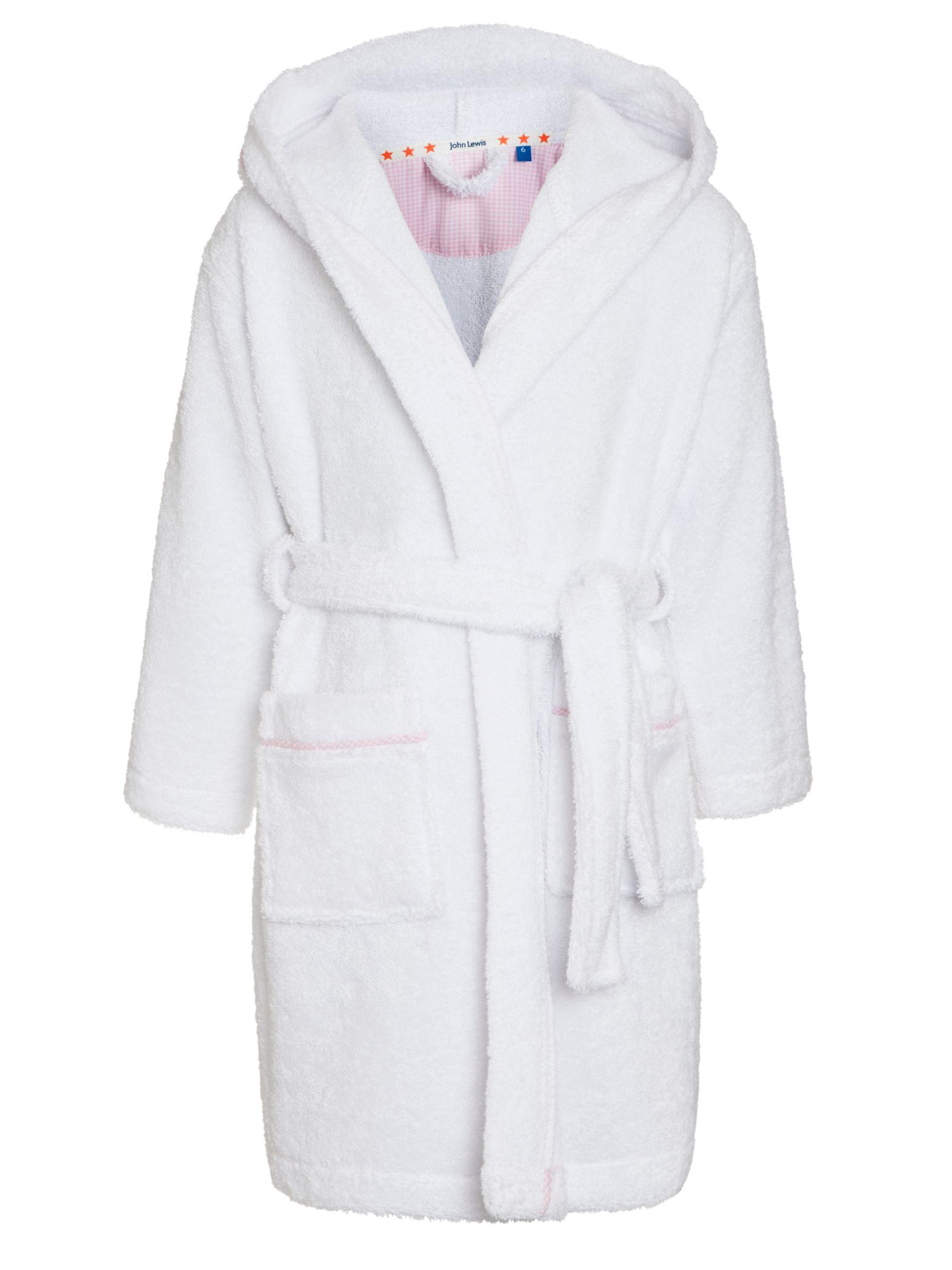 John Lewis Girl Towelling Robe, White