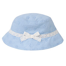Buy John Lewis Girl Embroidered Fisherman's Hat Online at johnlewis.com