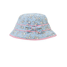 Buy John Lewis Girl Daisy Print Fisherman's Hat, Blue Online at johnlewis.com