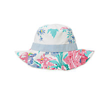 Buy John Lewis Girl Reversible Vintage Floral Sunhat, Multi Online at johnlewis.com