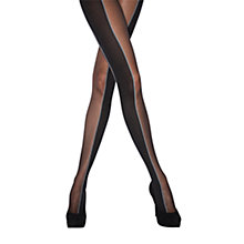 Buy Jonathan Aston Energy Striped Tights, Black Grey Online at johnlewis.com
