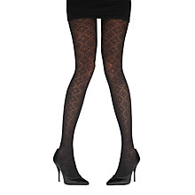 Buy Pretty Polly Net Diamond BS Tights, Black Online at johnlewis.com
