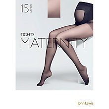 Buy John Lewis 15 Denier Sheer Maternity Tights, Black Online at johnlewis.com