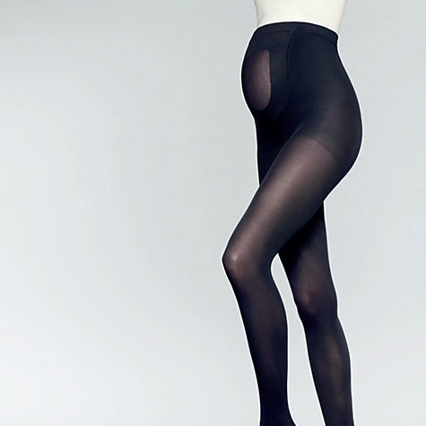 Buy John Lewis 70 Denier Opaque Matte Maternity Tights, Black Online at johnlewis.com