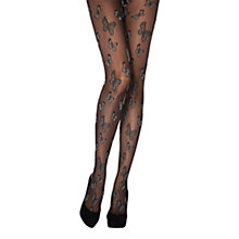 Buy Jonathan Aston Dream Butterfly Print Tights, Black Online at johnlewis.com