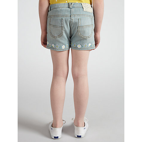 Buy John Lewis Girl Flower Shorts, Denim Online at johnlewis.com