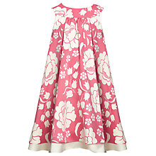Buy John Lewis Girl Tiered Floral Dress, Pink Online at johnlewis.com