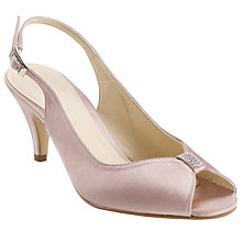 Buy John Lewis Occasion Plaza Satin Slingback Court Shoes, Mink Online at johnlewis.com
