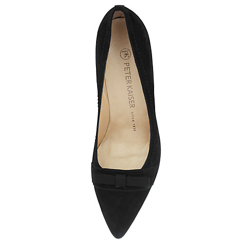Buy Peter Kaiser Vermala Suede Point Toe Court Shoes, Black Online at johnlewis.com