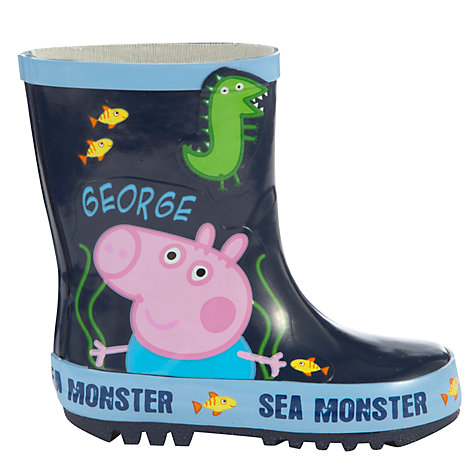 Buy George Pig Monster Wellington Boots, Multi Online at johnlewis.com