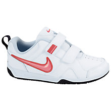 Buy Nike Lykin 11 Trainers, White/Pink Online at johnlewis.com
