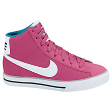 Buy Nike Sweet Classic High Trainers, Pink Online at johnlewis.com