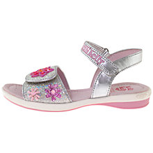 Buy Lelli Kelly Jewelled Sandals, Silver Glitter Online at johnlewis.com