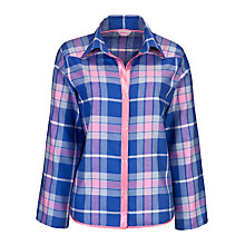 Buy Cyberjammies Cornflower Checked Pyjama Top, Blue Online at johnlewis.com