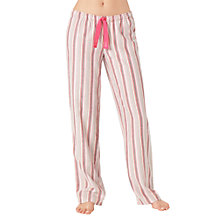 Buy Calvin Klein Cabaret Stripe Pyjama Bottoms, Pink/Ivory Online at johnlewis.com