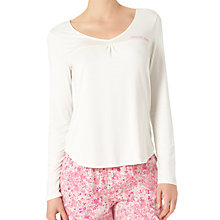 Buy Calvin Klein Long Sleeve Pyjama Top, Ivory Online at johnlewis.com