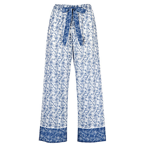 Buy Cyberjammies China Blue Pyjama Bottoms, Blue/White Online at johnlewis.com