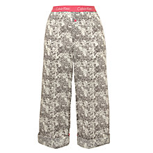 Buy Calvin Klein Lily Roll Up Pyjama Bottoms, Grey Online at johnlewis.com