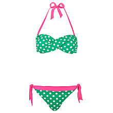 Buy Joules Mera Bikini Set, Green Online at johnlewis.com