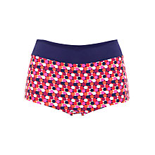 Buy John Lewis Hexagon Bikini Shorts, Multi Online at johnlewis.com