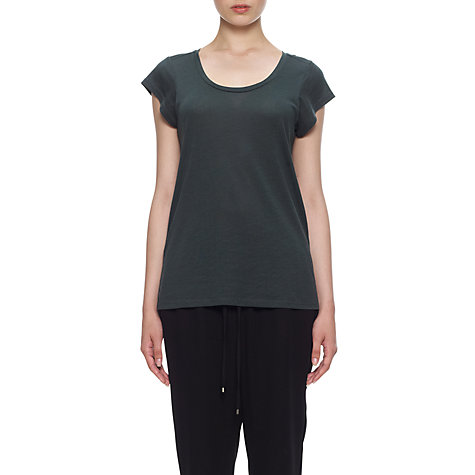 Buy Whistles Seam Back T-Shirt, Khaki Online at johnlewis.com