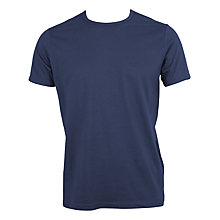 Buy Emporio Armani Jersey Crew Neck T-Shirt, Blue Online at johnlewis.com