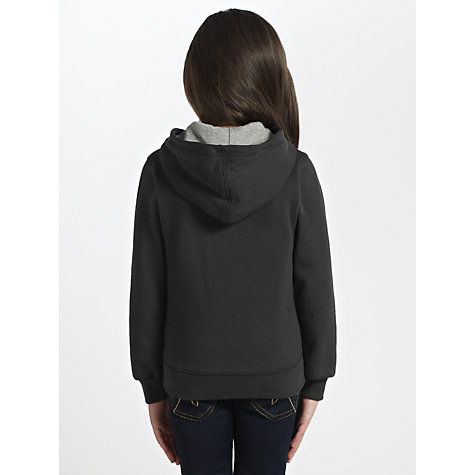 Buy Converse Fleece Zip Through Hoodie, Black Online at johnlewis.com
