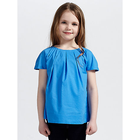 Buy Kin by John Lewis Girls' Pleat Front Top Online at johnlewis.com
