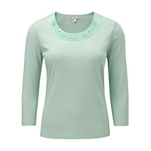 Buy CC Scoop Neck Trim Top, Mint Online at johnlewis.com