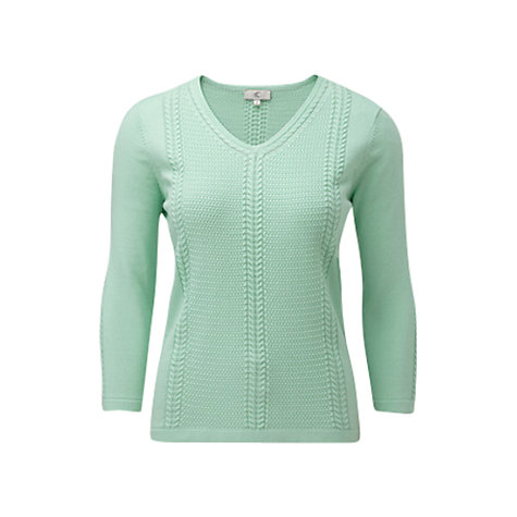 Buy CC Textured Cable Knit Jumper, Mint Online at johnlewis.com