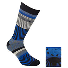 Buy Ted Baker Evapo Block Socks, Pack of 2, Blue Online at johnlewis.com