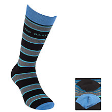 Buy Ted Baker Tealy Stripe Socks, Pack of 2, Teal/Grey Online at johnlewis.com